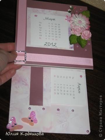 Настольный календарик, сделала для классного руководителя моей Даши, вернее сповторюшничала, уж очень мне нравятся такие штучки. Мне самой, то что получилось, ну очень нравится, не знаю конечно как вам, надеюсь на ваши отзывы. фото 5