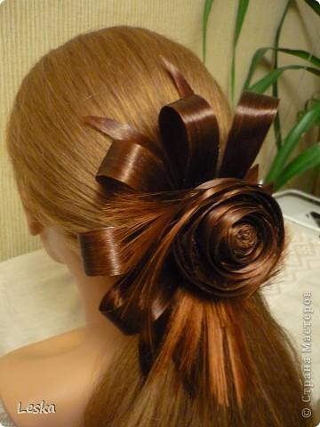 Доброго времени суток,мастерицы!!! Делюсь новостью: я недавно увлеклась парикмахерским искусством )))))  Это первая моя работа из волос,называются такие работы-  постижерные изделия.  фото 2