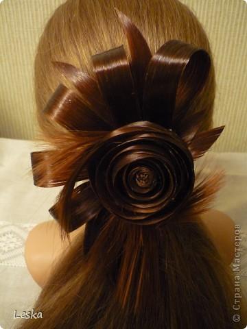 Доброго времени суток,мастерицы!!! Делюсь новостью: я недавно увлеклась парикмахерским искусством )))))  Это первая моя работа из волос,называются такие работы-  постижерные изделия.  фото 1