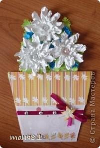 Доброго времени суток! А у меня продолжение открыточек.  В этих открыточках испо,льзовала цветы сделанные по МК https://stranamasterov.ru/node/321021?c=favorite  Светланы Б. За Мк ей огромное спасибо!!! фото 4