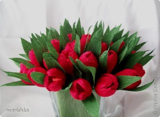 Тюльпаны и гофрированной бумаги своими руками
