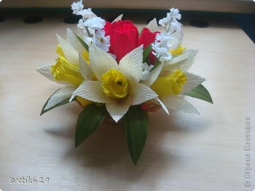 Вот мои весенние корзиночки делая их решила поделится с вами мастерством создания этих весенних цветов) фото 12