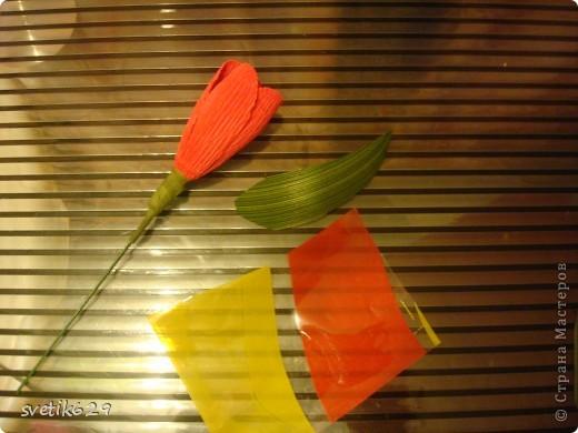Вот мои весенние корзиночки делая их решила поделится с вами мастерством создания этих весенних цветов) фото 10