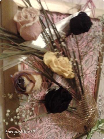 Здравствуйте! Хочу вам показать как я сделала картину из засохших цветов. фото 7