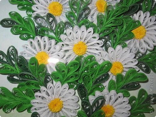 У Ольги К есть очень красивая картина с ромашками. Захотелось сотворить что-то подобное. Картину подарила свекрови на день рождения. фото 4