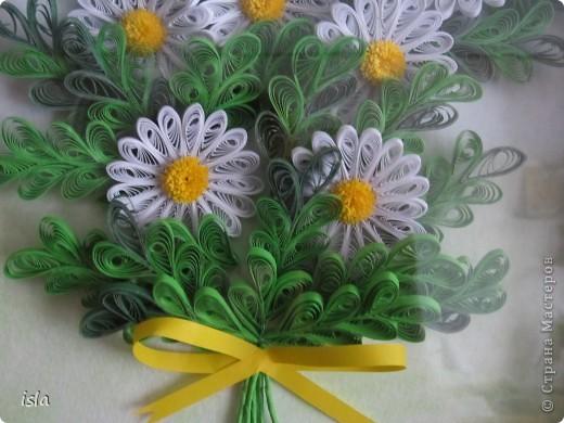 У Ольги К есть очень красивая картина с ромашками. Захотелось сотворить что-то подобное. Картину подарила свекрови на день рождения. фото 3