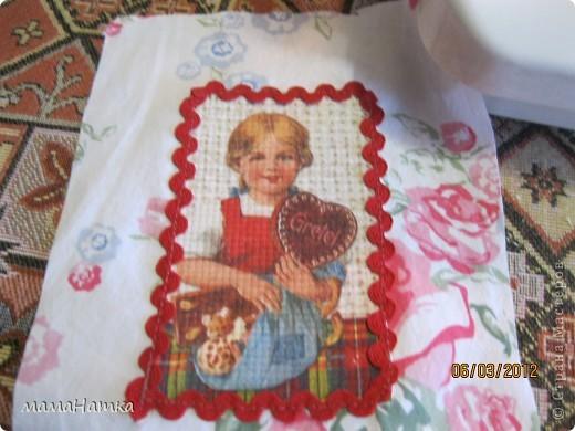 декупаж на ткани+ немного шитья = подарок фото 3