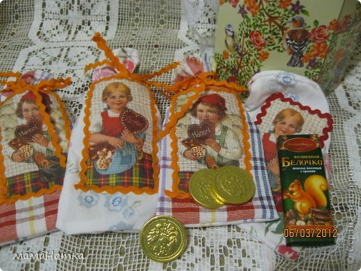 декупаж на ткани+ немного шитья = подарок фото 5