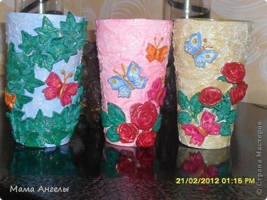 Такие, на мой взгляд ,симпатичные стаканчики,придутся по вкусу любой женщине! фото 1