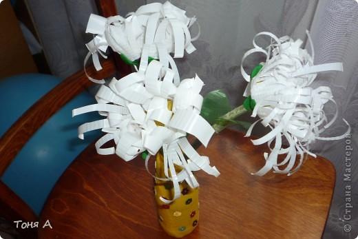 Цветочки к 8 марта!Цветы из пластиковых стаканчиков! фото 1