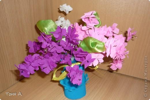 Цветочки к 8 марта!Цветы из пластиковых стаканчиков! фото 4