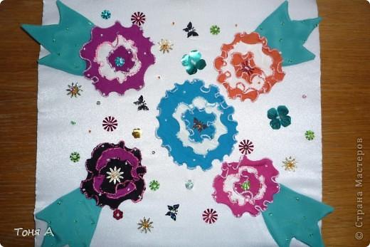 Цветочки к 8 марта!Цветы из пластиковых стаканчиков! фото 6