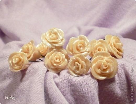 Розы нежные кремовые фото 1
