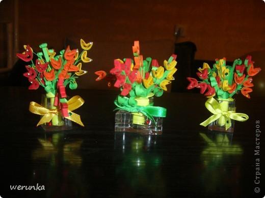 3 Мини вазочки с цветами. фото 1