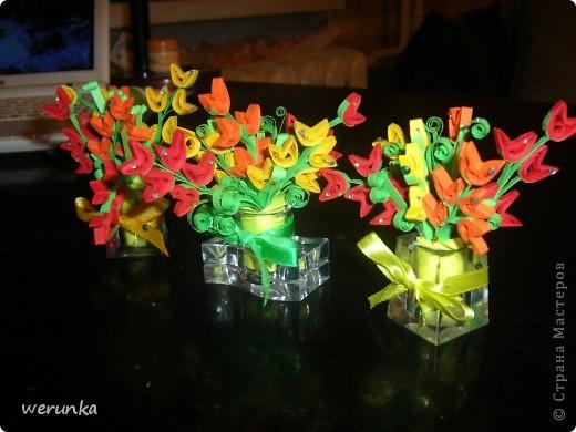 3 Мини вазочки с цветами. фото 2