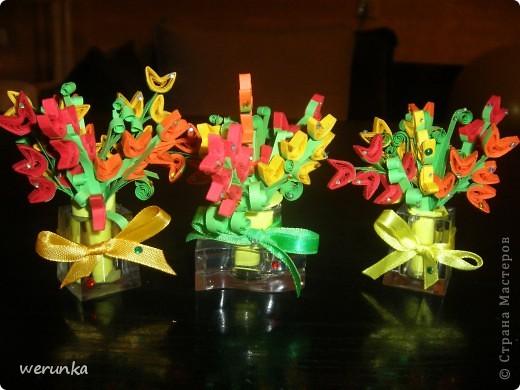3 Мини вазочки с цветами. фото 3