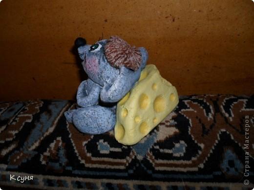 Вот такой сытый и довольный не то Мышь,не то Крыс, у меня получился..))) Его судьбу,во время лепки,спас именно этот вот кусок сыра..а не то Мышь был бы уничтожен из-за головонеустойчивости..))))) фото 8