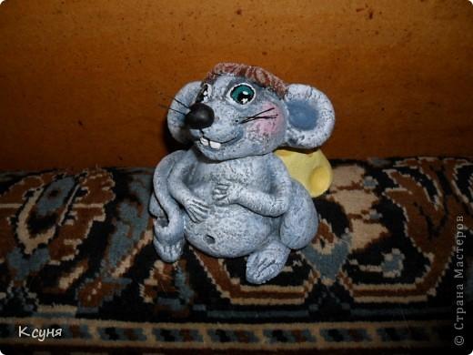 Вот такой сытый и довольный не то Мышь,не то Крыс, у меня получился..))) Его судьбу,во время лепки,спас именно этот вот кусок сыра..а не то Мышь был бы уничтожен из-за головонеустойчивости..))))) фото 9
