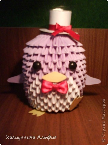Вот такого забавного пингвина я делала на подарок моему одногруппнику на 23 февраля) Он оценил) фото 1