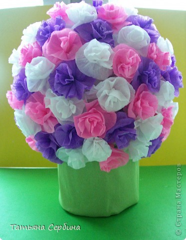 Впервые делала цветочные шары, хотя собиралась давно и долго) очень они мне нравятся и к этому 8 Марта сделала подарки: фото 8