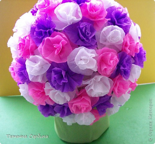 Впервые делала цветочные шары, хотя собиралась давно и долго) очень они мне нравятся и к этому 8 Марта сделала подарки: фото 1