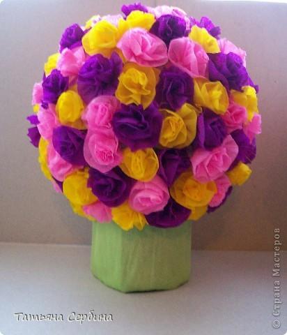 Впервые делала цветочные шары, хотя собиралась давно и долго) очень они мне нравятся и к этому 8 Марта сделала подарки: фото 9