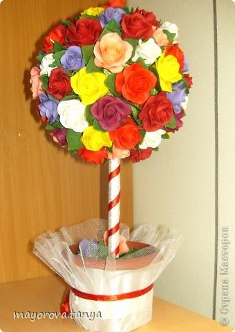 Всем привет! Поздравляю с Женким днем 8 Марта! Такое сердечное деревце подарила на 8 марта хорошей женщине), приятненько удивила) фото 6