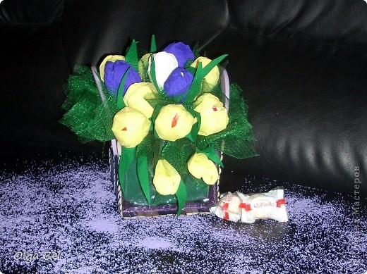 Букет из конфет: Тюльпаны        фото 2