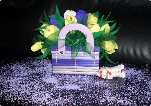 Букет из конфет: Тюльпаны        фото 1