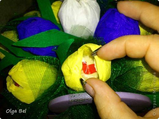 Букет из конфет: Тюльпаны        фото 3
