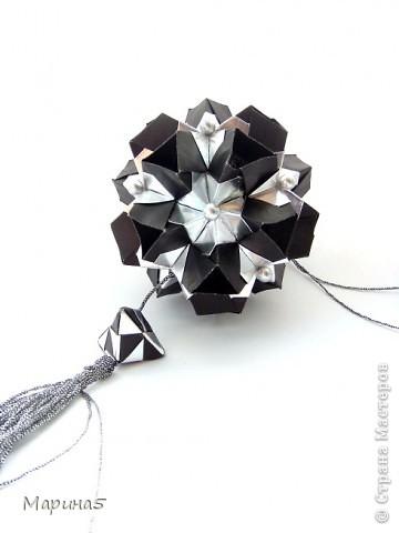 """Всем привет! Кусудама Flower Star. Автор Meenakshi Mukerji Из книги """"Exquisite Modular Origami"""" стр.48-50 Размер модулей 10 на 5, итог 10 см. фото 6"""
