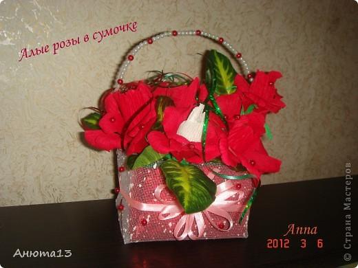 Вот такую сумочку я сделала в подарок на 8-ое марта фото 2