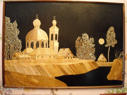 Когда-то давно, ещё будучи студенткой Рязанского ГПУ, увлеклась картинами из соломки. Многое из того, что было сделано, раздарила, даже фотографий не осталось. Некоторые работы делала на заказ в подарок. Вот то, что у меня на сей день осталось. Рязанский Кремль. фото 6