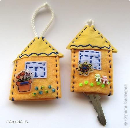 Домики для ключей. Сделаны были в подарок к празднику. Получилась целая Деревенька) фото 2