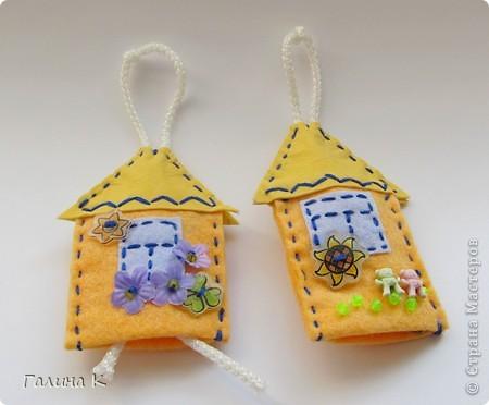Домики для ключей. Сделаны были в подарок к празднику. Получилась целая Деревенька) фото 4