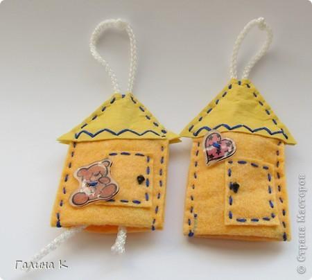 Домики для ключей. Сделаны были в подарок к празднику. Получилась целая Деревенька) фото 3