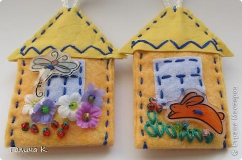 Домики для ключей. Сделаны были в подарок к празднику. Получилась целая Деревенька) фото 5