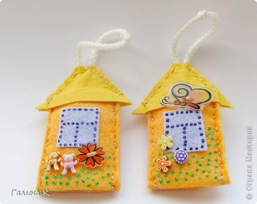 Домики для ключей. Сделаны были в подарок к празднику. Получилась целая Деревенька) фото 6