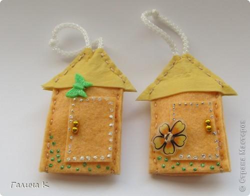 Домики для ключей. Сделаны были в подарок к празднику. Получилась целая Деревенька) фото 7