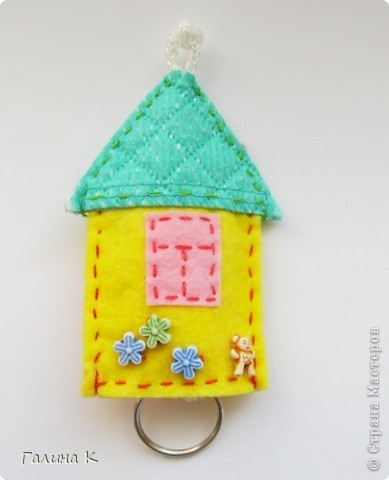 Домики для ключей. Сделаны были в подарок к празднику. Получилась целая Деревенька) фото 8