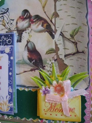 Очень понравилась подставка-календарь от Тинсанна (https://stranamasterov.ru/node/322171#comment-3451905), решили с дочкой учителей порадовать - подарки к празднику сделать. Получилось аляповато, зато по-весеннему - буйство красок:)))  фото 4