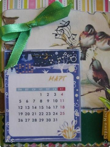Очень понравилась подставка-календарь от Тинсанна (https://stranamasterov.ru/node/322171#comment-3451905), решили с дочкой учителей порадовать - подарки к празднику сделать. Получилось аляповато, зато по-весеннему - буйство красок:)))  фото 5