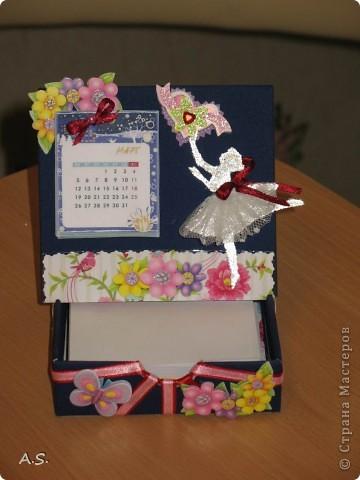 Очень понравилась подставка-календарь от Тинсанна (https://stranamasterov.ru/node/322171#comment-3451905), решили с дочкой учителей порадовать - подарки к празднику сделать. Получилось аляповато, зато по-весеннему - буйство красок:)))  фото 9