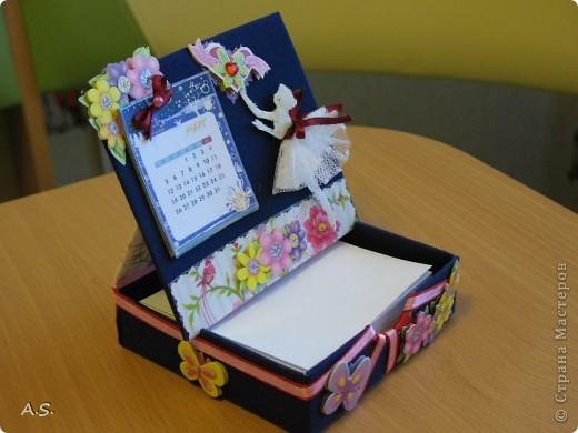 Очень понравилась подставка-календарь от Тинсанна (https://stranamasterov.ru/node/322171#comment-3451905), решили с дочкой учителей порадовать - подарки к празднику сделать. Получилось аляповато, зато по-весеннему - буйство красок:)))  фото 10