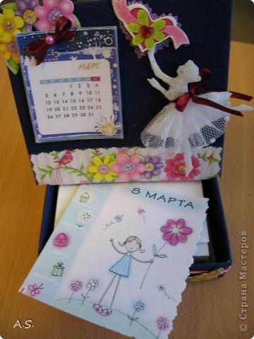 Очень понравилась подставка-календарь от Тинсанна (https://stranamasterov.ru/node/322171#comment-3451905), решили с дочкой учителей порадовать - подарки к празднику сделать. Получилось аляповато, зато по-весеннему - буйство красок:)))  фото 12