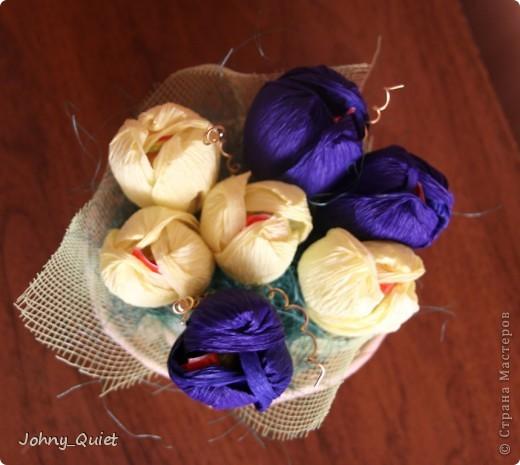 Третий блок подарков - сладкие букеты. Куда без них=) Доделывала уже 7го числа ночью фото 6