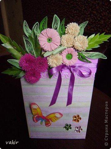 """К празднику для подруг """"вырастила"""" такие цветы в горшочках. У нас в СМ немало емсть подобных работ. МК таких открыток (фото и видео) есть на этом сайте: http://www.splitcoaststampers.com/resources/tutorials/flowerpotpocket/  фото 7"""