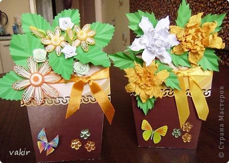 """К празднику для подруг """"вырастила"""" такие цветы в горшочках. У нас в СМ немало емсть подобных работ. МК таких открыток (фото и видео) есть на этом сайте: http://www.splitcoaststampers.com/resources/tutorials/flowerpotpocket/  фото 9"""