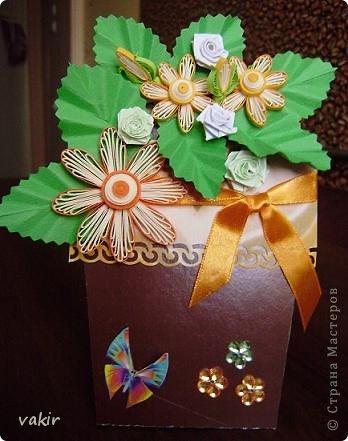 """К празднику для подруг """"вырастила"""" такие цветы в горшочках. У нас в СМ немало емсть подобных работ. МК таких открыток (фото и видео) есть на этом сайте: http://www.splitcoaststampers.com/resources/tutorials/flowerpotpocket/  фото 13"""
