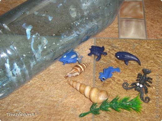 Здравствуйте, дорогие гости моего блога! Продолжаю показывать наши поделки-аквариумы, находка для мам гиперактивных ребятишек :) Сужу по своему сыну,который моментально успокаивается, стоит ему немного покрутить в руках свои аквариумы. фото 2